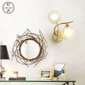床頭燈北歐床頭燈具臥室壁燈現代簡約風格創意過道客廳壁燈酒店走廊壁燈MKS摩可美家