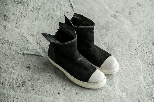 FINDSENSE MD 日系 高品質 時尚 潮 男 黑白 高幫 低跟休閒鞋 短