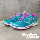 FILA 水藍紫 網布 透氣 輕量 休閒鞋 慢跑鞋 女 (布魯克林) 5J088Q464