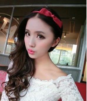 預購-韓版髮飾頭飾品 多層蝴蝶結髮箍 緞帶細款頭箍
