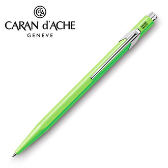 CARAN d'ACHE 瑞士卡達 849.230 Fluo 原子筆 螢光綠 / 支