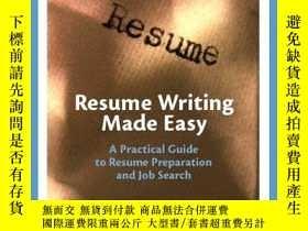 二手書博民逛書店Resume罕見Writing Made EasyY255562 Brown, Lola Prentice H
