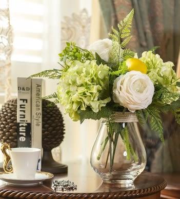 模擬花假花 睡蓮套裝 花藝 客廳餐桌 裝飾花 花瓶 -bri010022