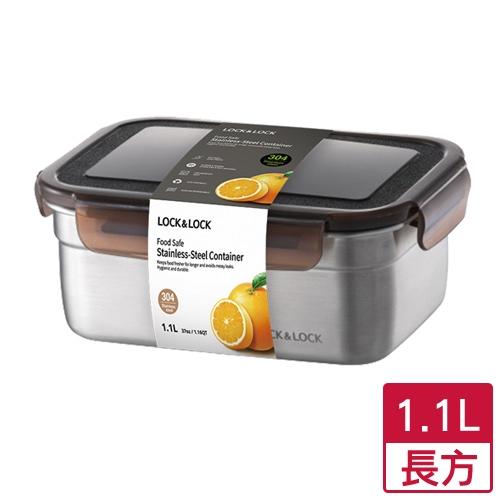 樂扣 不鏽鋼保鮮盒-長方(1.1L)【愛買】