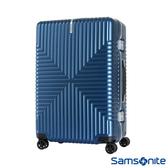 Samsonite新秀麗 28吋Intersect 高質感PC鋁框硬殼TSA行李箱(海軍藍)