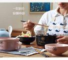 保鲜盒陶瓷飯碗泡面杯碗帶蓋帶手柄方便面碗學生餐碗便當盒湯碗可微波爐