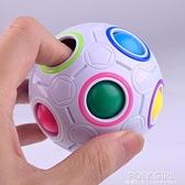 益智玩具智力兒童減壓魔方初學者異形彩虹球創意手指23足球寶寶 秋季新品