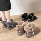 雪地靴女2019新款時尚冬季加絨加厚保暖百搭面包鞋韓版短筒棉鞋女