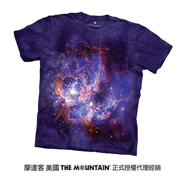 【摩達客】(預購)美國進口The Mountain Smithsonian系列NGC604星雲 純棉環保短袖T恤
