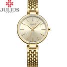 JULIUS聚利時 韶光小禮服不鏽鋼錶帶腕錶-金色/32mm【JA-960B】