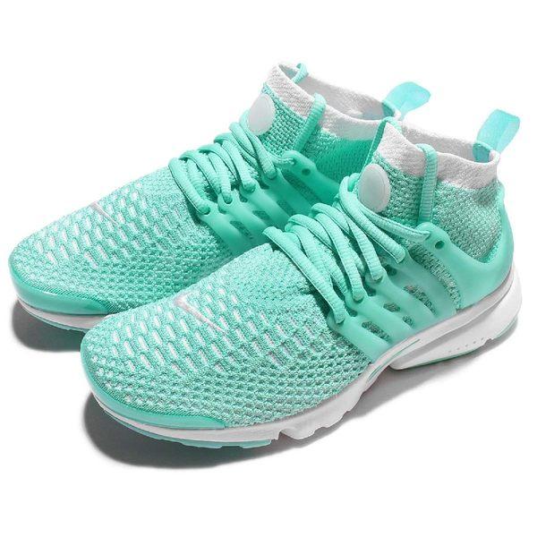 【四折特賣】Nike 休閒慢跑鞋 Wmns Air Presto Flyknit 湖水綠 白 女鞋 魚骨鞋【PUMP306】 835738-301
