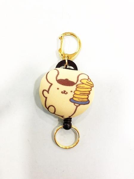 【震撼精品百貨】Pom Pom Purin 布丁狗~布丁狗伸縮鑰匙圈-鬆餅#07610