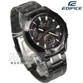 EDIFICE EFV-540DC-1B 計時碼錶 帥氣風立體時刻賽車男錶 防水手錶 IP黑x金 EFV-540DC-1BVUDF CASIO卡西歐