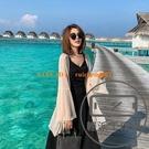 防曬服女夏百搭薄款中長款海邊度假沙灘防曬開衫空調衫【輕派工作室】