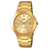 【CASIO】 金時尚紳士日期顯示指針錶-羅馬金面(MTP-1170N-9A)