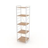 (組)特力屋萊特五層架白框/淺木紋-40x40x158cm