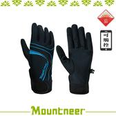 【Mountneer 山林 抗UV印花觸控手套《天藍》】11G03-78/抗UV/觸控手套/手套/防曬手套/機車族
