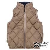 PolarStar 兒童 雙面穿羽絨背心『卡其』P18255 戶外 休閒 登山 露營 保暖 禦寒 防風 刷毛