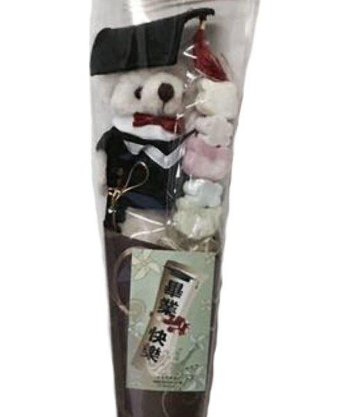 娃娃屋樂園~畢業熊棉花糖甜筒花束 每支100元/畢業花束/畢業熊/獨賣現在起跑