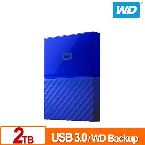 WD My Passport 2TB 2.5吋行動硬碟(薄型) (藍色) WDBS4B0020BBL-WESN