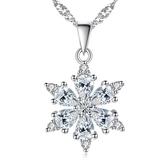 新品韓國項鍊鍍銀項飾品幸運雪花時尚氣質吊墜《小師妹》ps75