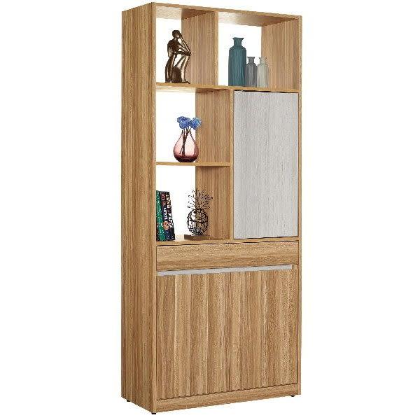 鞋櫃 隔間櫃 屏風鞋櫃 QW-689-3 杜特帝2.7尺雙面櫃【大眾家居舘】