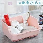 放碗架帶蓋瀝水碗筷收納盒置物架