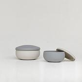 台灣 Besovida 雙雙 1+1 全矽膠環保餐碗 - 雲霧灰