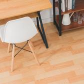 樂嫚妮 加贈同款式10cm-仿樁木紋可裁切隔音捲材地板革-50X200cm