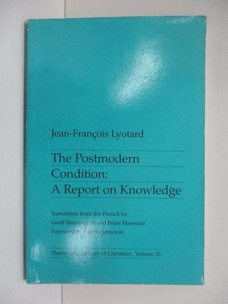 【書寶二手書T1/傳記_ESC】The Postmodern Condition_Lyotard, Jean-Francois