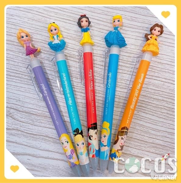 韓國大創限定迪士尼公主系列 Q版造型公仔 原子筆 黑筆 附贈藍筆 COCOS KO200