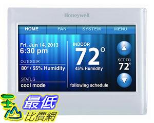 [107美國直購] 溫控器 Honeywell TH9320WF5003 WiFi 9000 Color Touchscreen Thermostat, Works with Alexa
