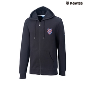 K-SWISS Shield Logo JKT刷毛連帽外套-女-黑