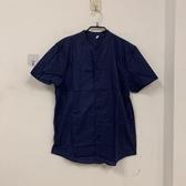 韓版男士潮流休閒純色襯衣立領薄款短袖襯衫(M號/777-7631)
