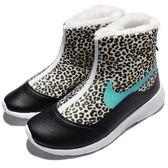 【五折特賣】Nike 休閒鞋 Tanjun Hi Print GS 黑 藍 豹紋 無鞋帶 運動鞋 大童鞋 女鞋【PUMP306】AA2891-100