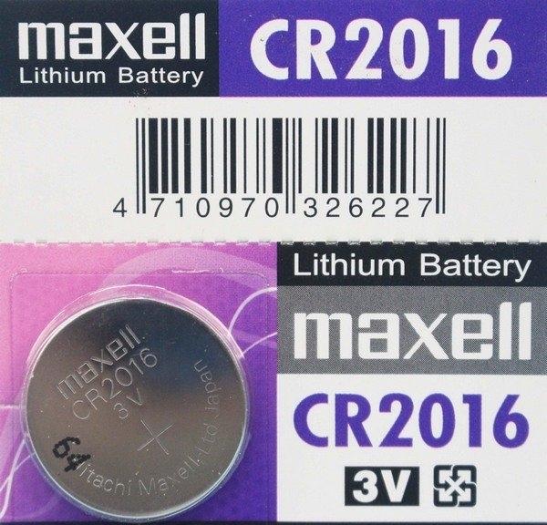 maxell CR2016 鈕扣型鋰電池 3V/一顆入(促40) 水銀電池 手錶電池-傑梭