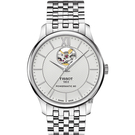 TISSOT 天梭 Tradition 80小時動力鏤空機械手錶-銀/40mm T0639071103800