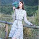 鏤空蕾絲秋裝氣質長袖洋裝 [63176-KF]美之札