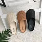 夏季麻繩復古涼拖鞋女草編鏤空透氣防滑平底一腳蹬半拖懶人鞋快速出貨
