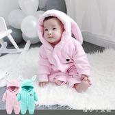 嬰兒連身衣 動物連體衣服冬季初生男女寶寶可愛造型哈衣絨爬服狗 df4989【潘小丫女鞋】