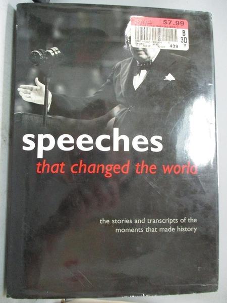 【書寶二手書T1/字典_ZJW】Speeches That Changed the World: The Stories…