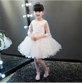 花童禮服公主裙女大童兒童婚紗蓬蓬裙小孩兒童生日鋼琴演出服夏季