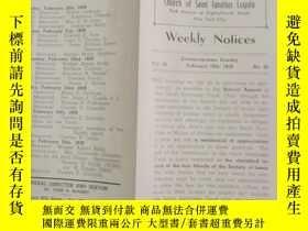 二手書博民逛書店民國罕見1939年 外文 WEEKLY NOTICES 第22期