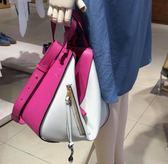 ■專櫃59折■Loewe Hammock 吊床包 小型手袋 粉/白撞色