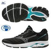 MIZUNO WAVE RIDER 22 女鞋 慢跑 多功能 避震 耐磨 透氣 黑 灰【運動世界】J1GD183210
