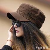 中大尺碼鴨舌帽帽子青年夏平頂帽夏軍帽子女夏韓版 nm4871【VIKI菈菈】