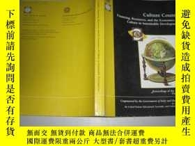 二手書博民逛書店CULTURE罕見COUNTS FINANCING RESOUR