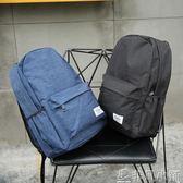 男女雙肩包純色百搭學生書包英倫學院風休閒旅行背包帆布     非凡小鋪