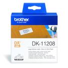 Brother DK-11208 白底黑字 原廠定型標籤帶 適用QL-500/QL-550/570/650/580N/1050/1060