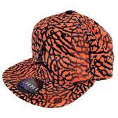 Nike 帽子 Jordan Jumpman Seasonal Snapback 橘 黑 爆裂紋 棒球帽 【PUMP306】 724901-808